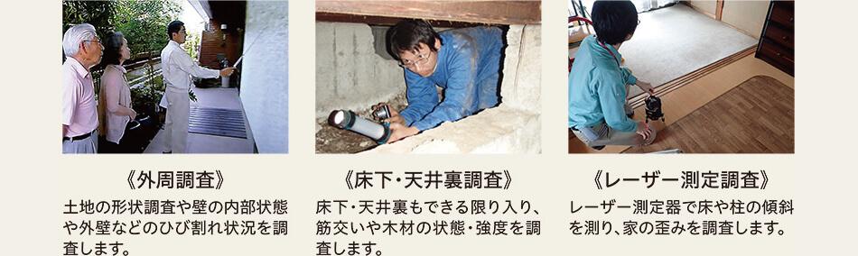 《外周調査》土地の形状調査や壁の内部状態や外壁などのひび割れ状況を調査します。-pc