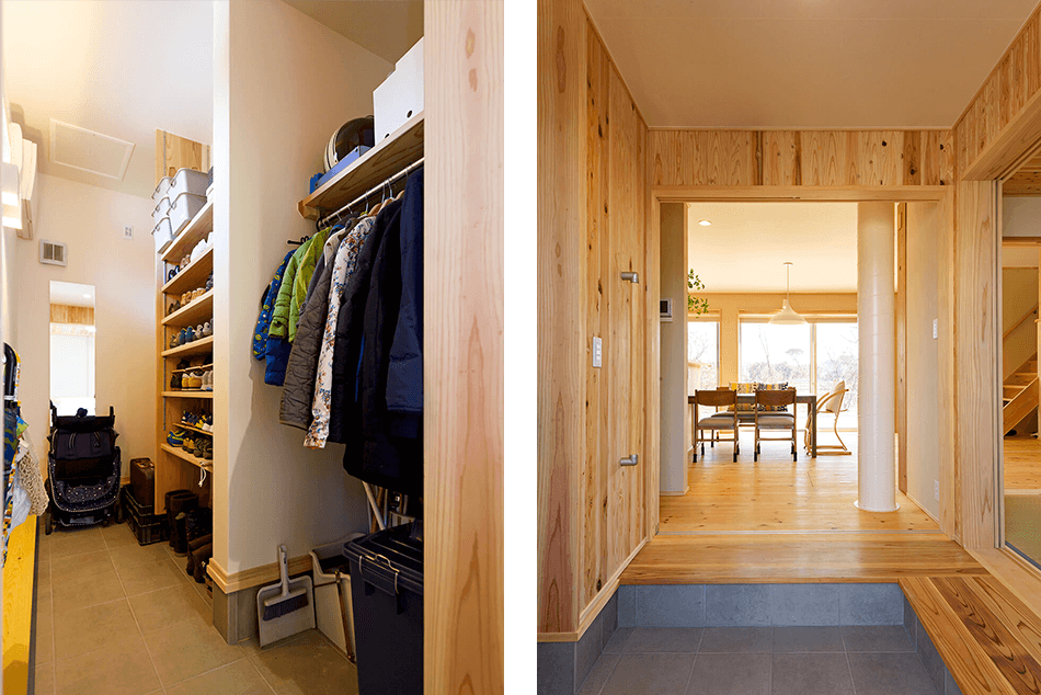 木の家|熊本の新築建築事例|2階建|4LDK|土間収納|玄関|エコワークス|CASE-13|内観05