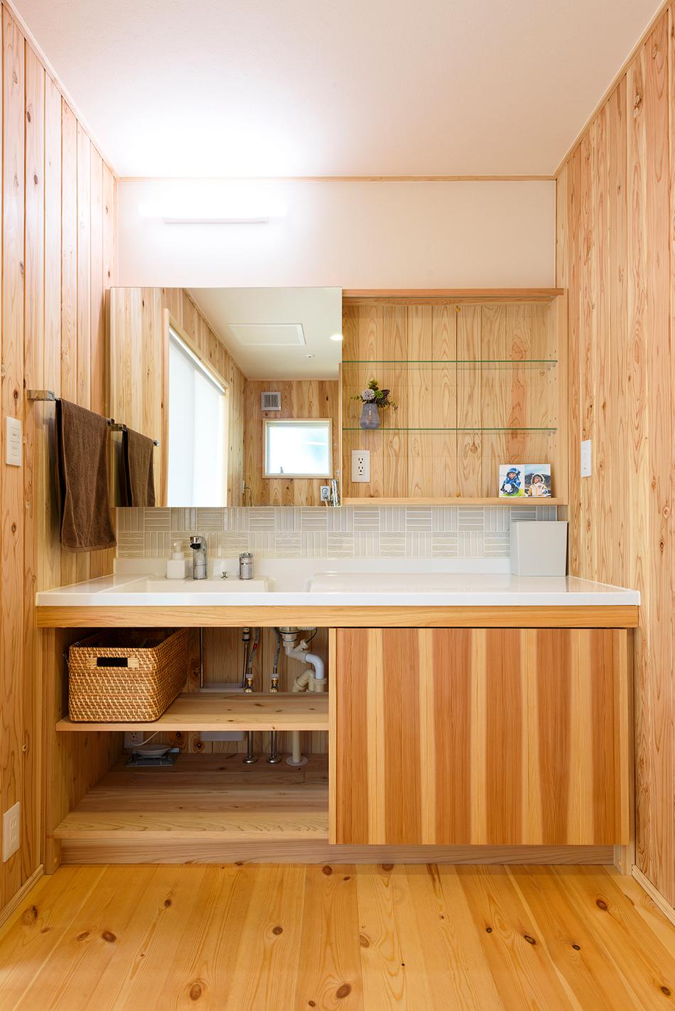 木の家|熊本の新築建築事例|2階建|4LDK|洗面所|エコワークス|CASE-13|内観07