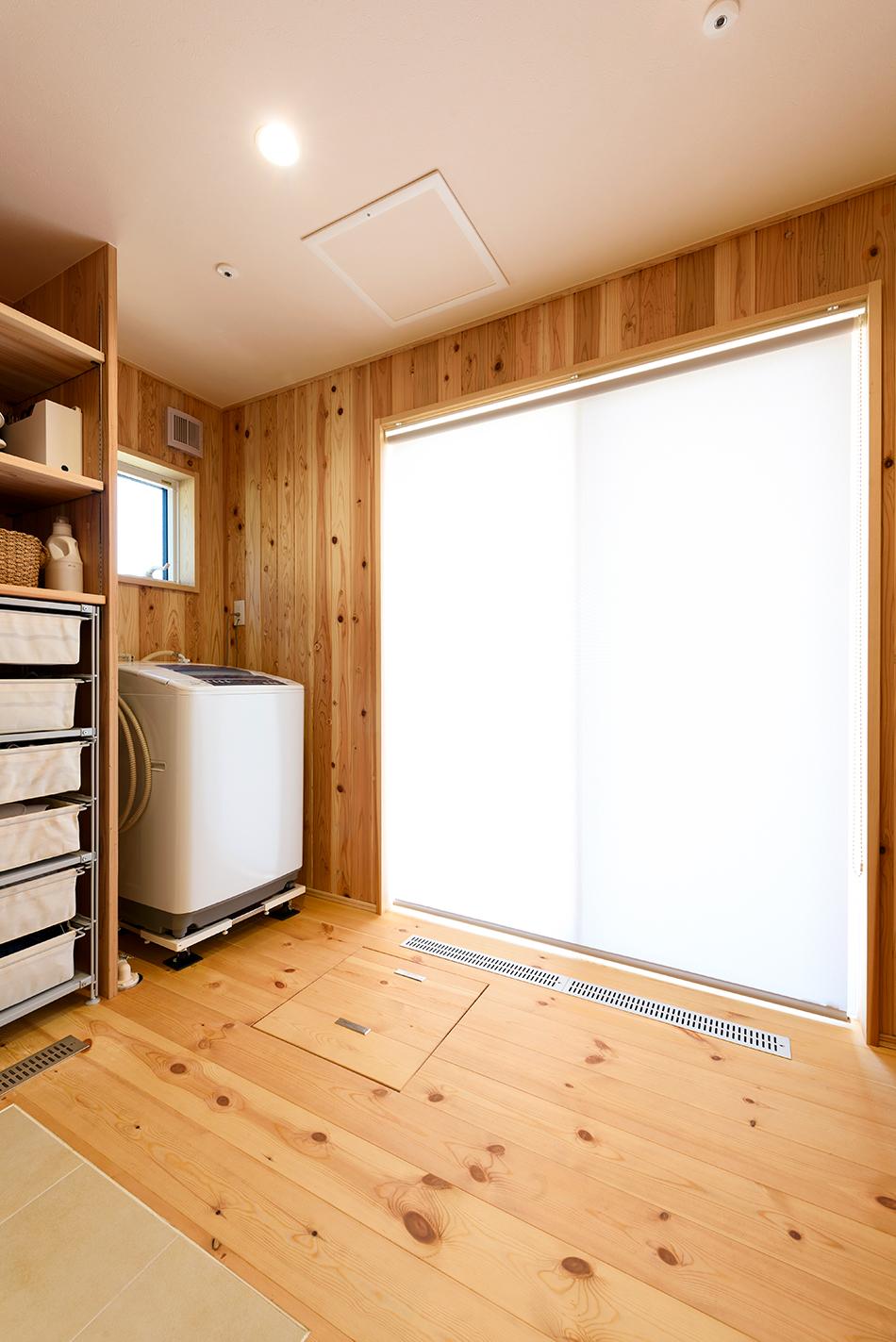木の家|熊本の新築建築事例|2階建|4LDK|家事室|エコワークス|CASE-13|内観07