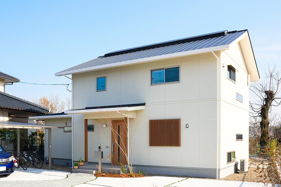 木の家|熊本の新築建築事例|2階建|4LDK|外観|エコワークス|CASE-13|外観
