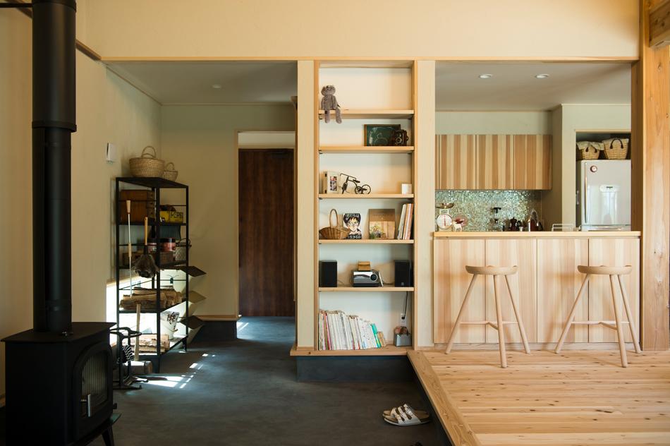木の家|熊本の新築建築事例|平屋|3LDK|土間|エコワークス|CASE-14|内観01