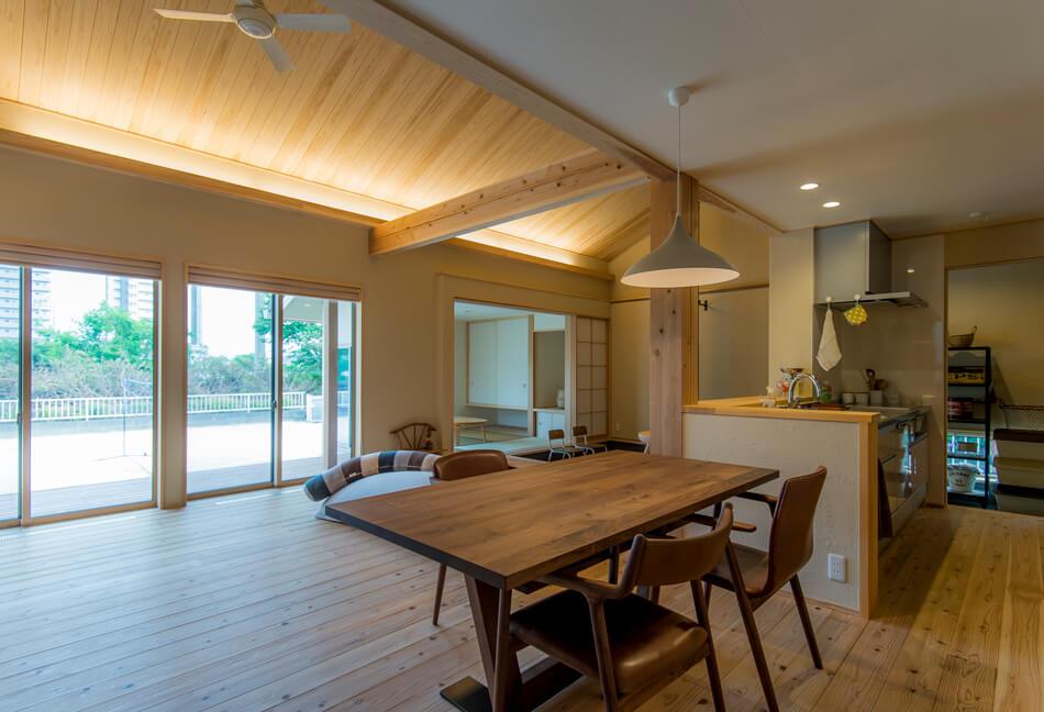 木の家|熊本の新築建築事例|平屋|3LDK|リビング|エコワークス|CASE-14|内観03