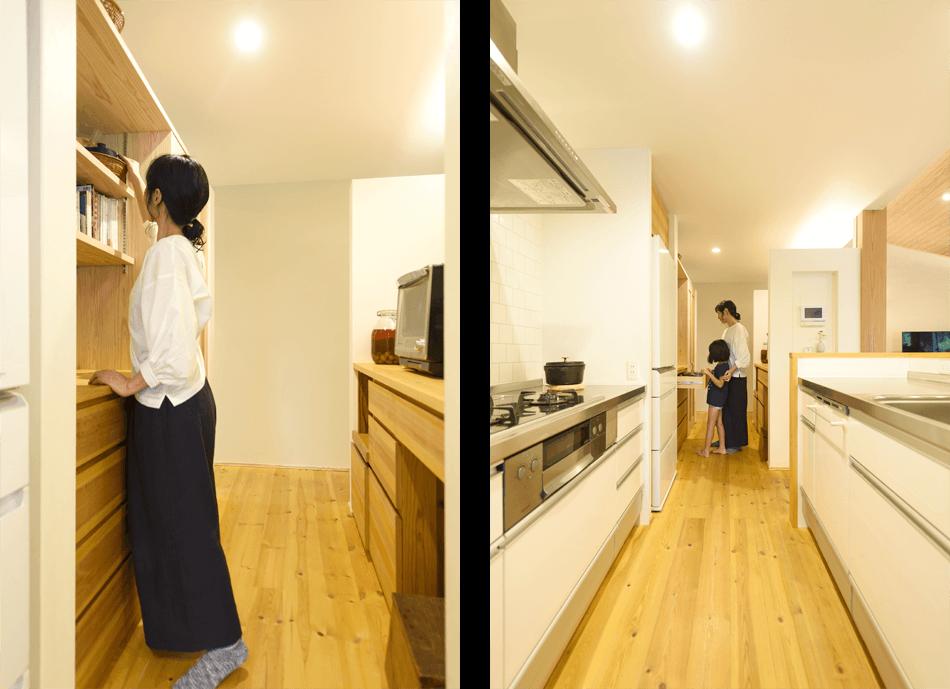 木の家|福岡の新築建築事例|平屋|4LDK|キッチン|エコワークス|CASE-15|内観02