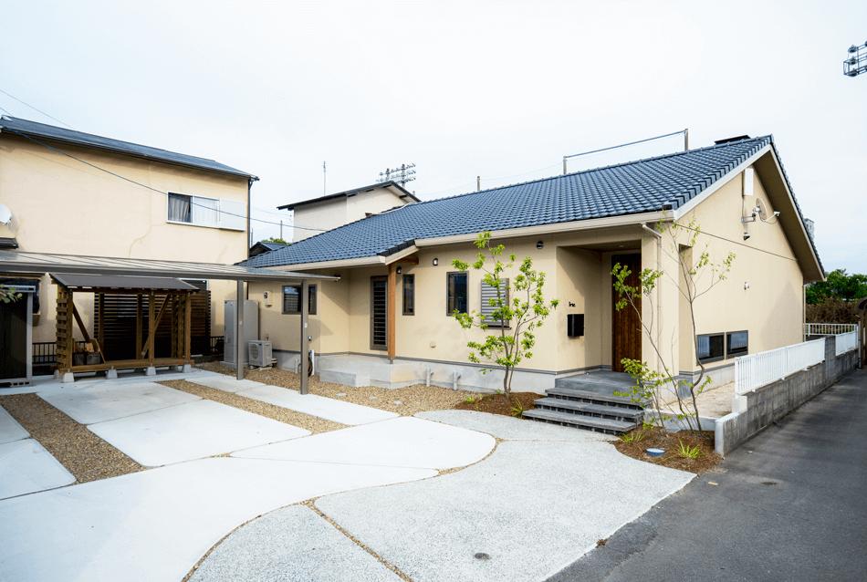 木の家|熊本の新築建築事例|平屋|3LDK|外観|エコワークス|CASE-14|外観