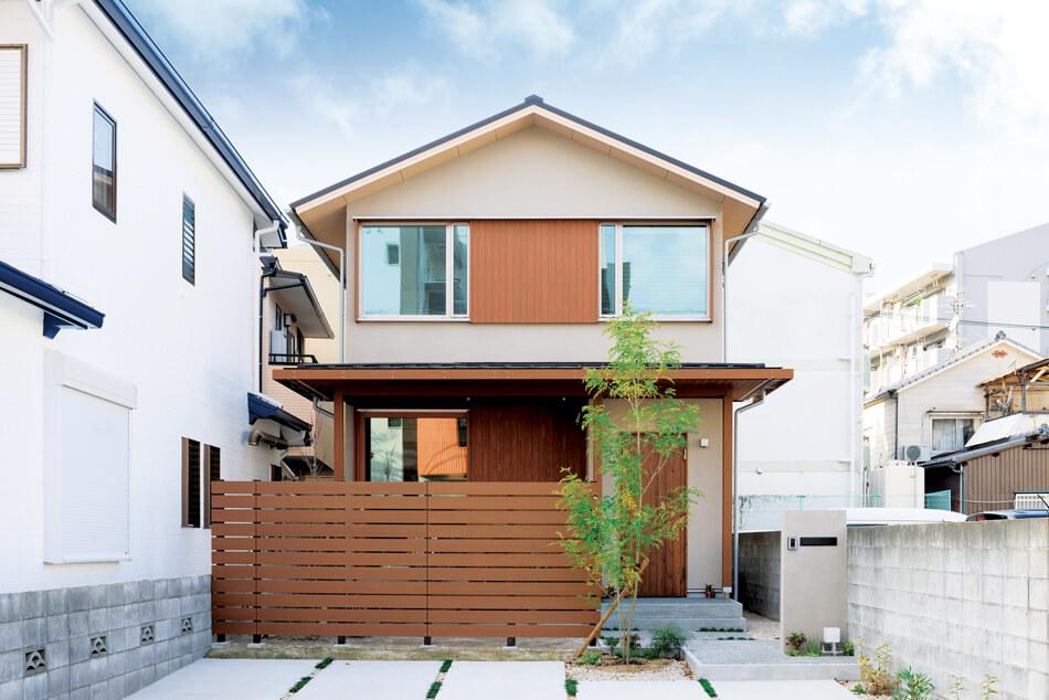 木の家|福岡の新築建築事例|2階建|4LDK|外観|エコワークス|CASE-16|外観