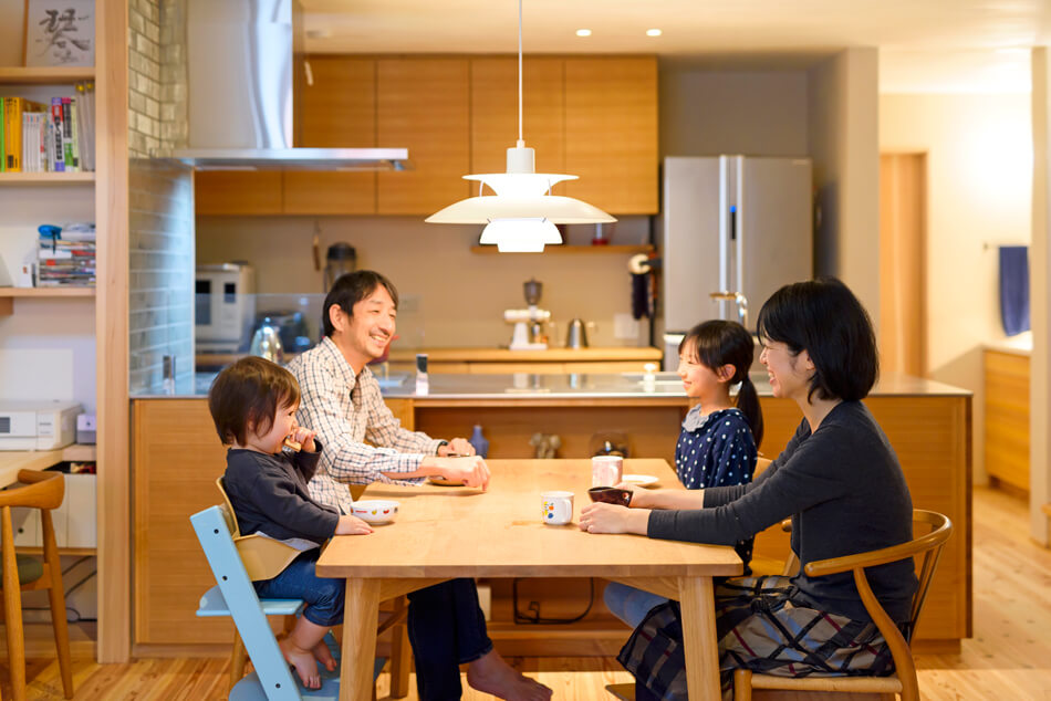 木の家|福岡の新築建築事例|2階建|4LDK|リビング|エコワークス|CASE-16|内観07