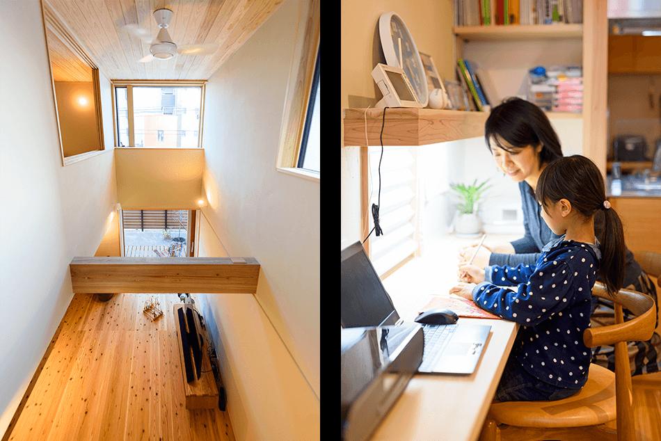木の家|福岡の新築建築事例|2階建|4LDK|吹抜け|スタディスペース|エコワークス|CASE-16|内観06