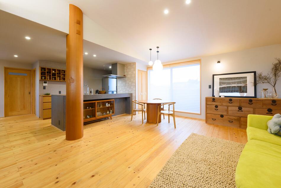 木の家|福岡の新築建築事例|2階建|4LDK|リビング|エコワークス|CASE-18|内観04