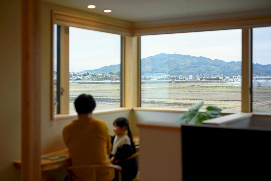 木の家|福岡の新築建築事例|2階建|4LDK|窓|エコワークス|CASE-18|内観05