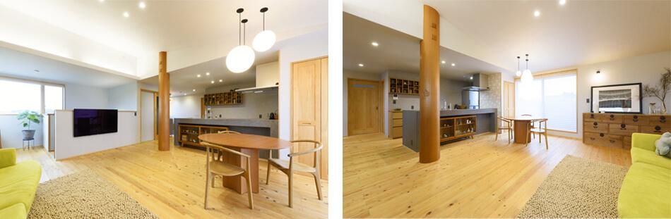木の家|福岡の新築建築事例|2階建|4LDK|リビング|エコワークス|CASE-18|内観06