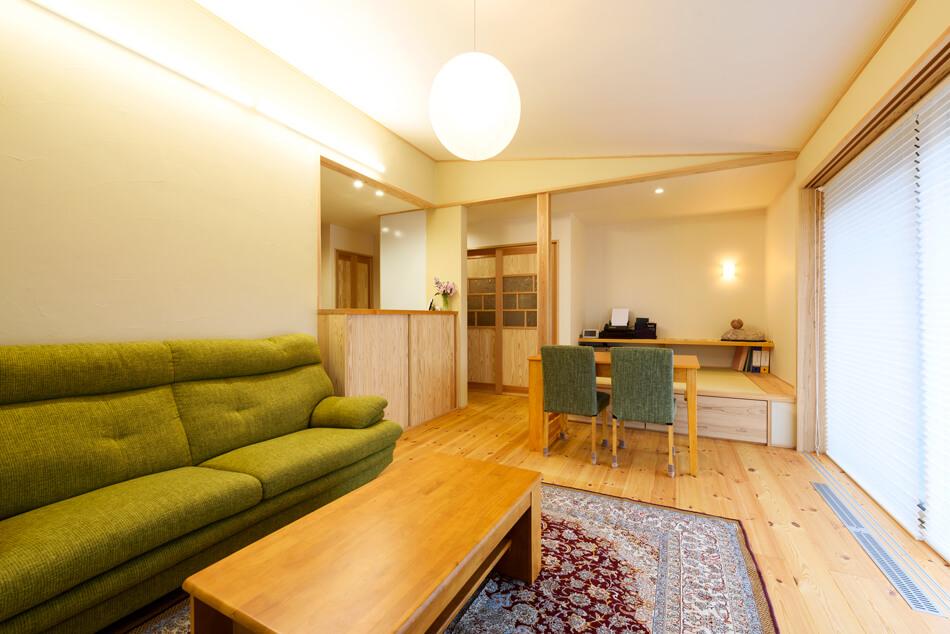 木の家|福岡の新築建築事例|2階建|4LDK|リビング|エコワークス|CASE-18|内観07