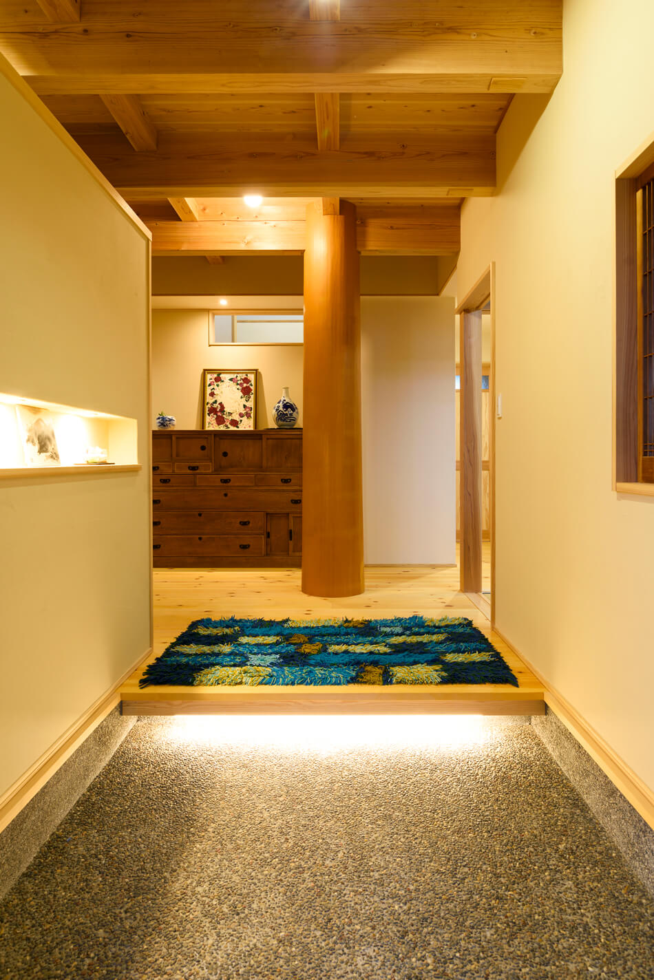 木の家|福岡の新築建築事例|2階建|4LDK|玄関|エコワークス|CASE-18|内観09