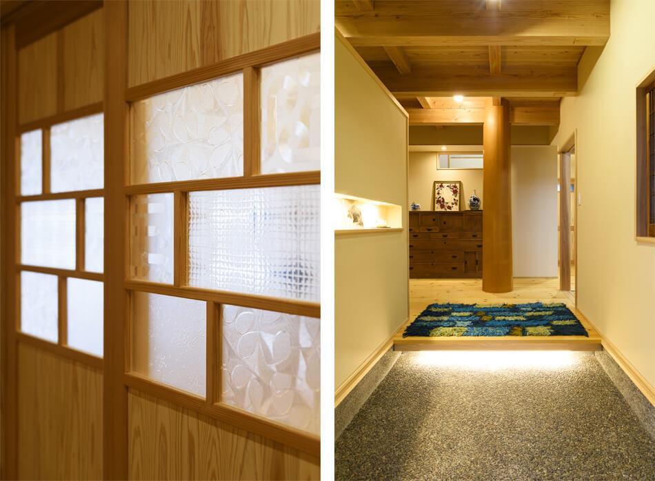 木の家|福岡の新築建築事例|2階建|4LDK|ドア|玄関|エコワークス|CASE-18|内観10