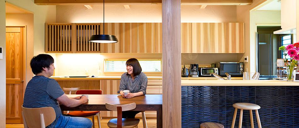 木の家|熊本の新築建築事例|2階建|4LDK|リビング|エコワークス|CASE-19|内観01