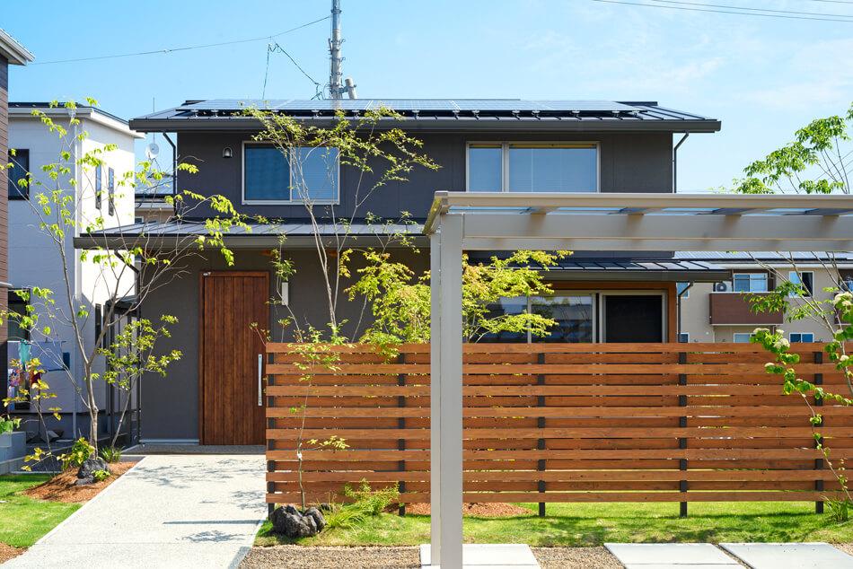 木の家|熊本の新築建築事例|2階建|4LDK|外観|エコワークス|CASE-19|外観02