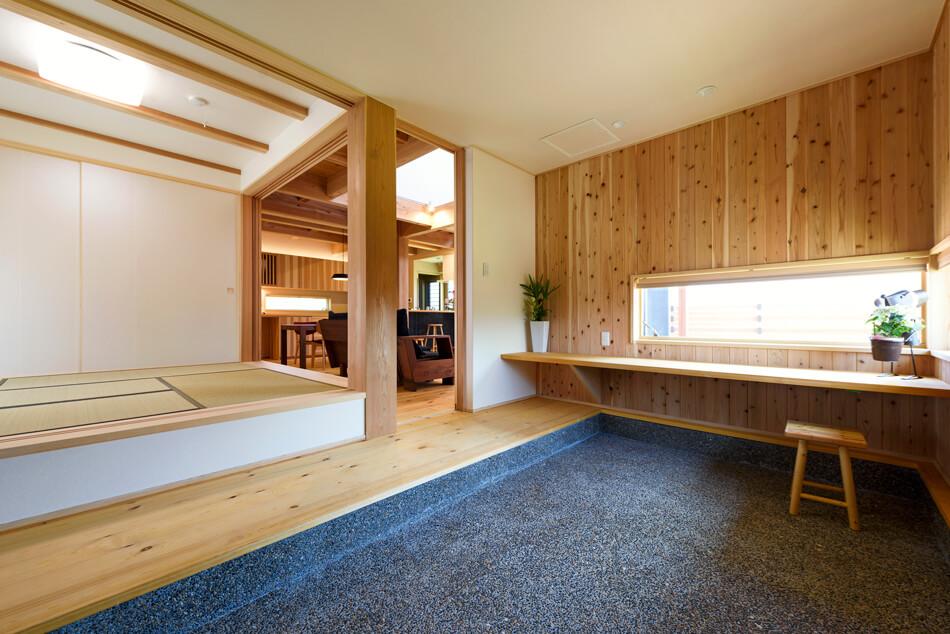 木の家|熊本の新築建築事例|2階建|4LDK|フリースペース|エコワークス|CASE-19|内観03