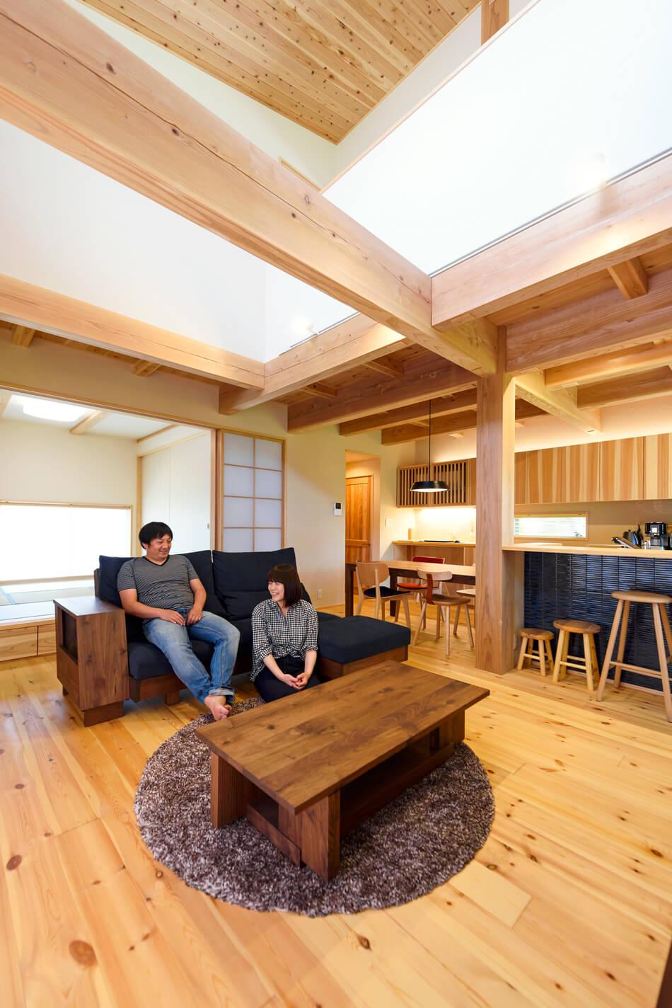 木の家|熊本の新築建築事例|2階建|4LDK|リビング|エコワークス|CASE-19|内観06