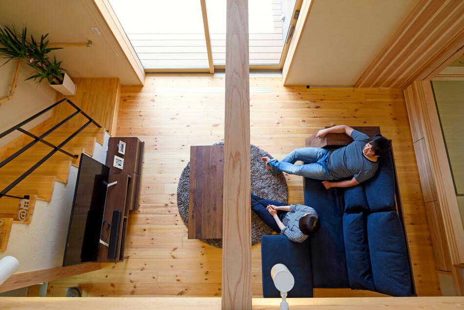 木の家|熊本の新築建築事例|2階建|4LDK|リビング|エコワークス|CASE-19|内観07