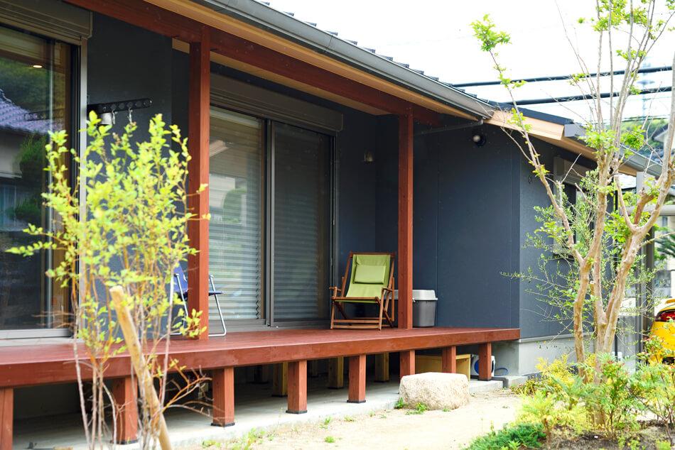 木の家|福岡の新築建築事例|平屋|3LDK+ロフト|外観|エコワークス|CASE-20|外観08