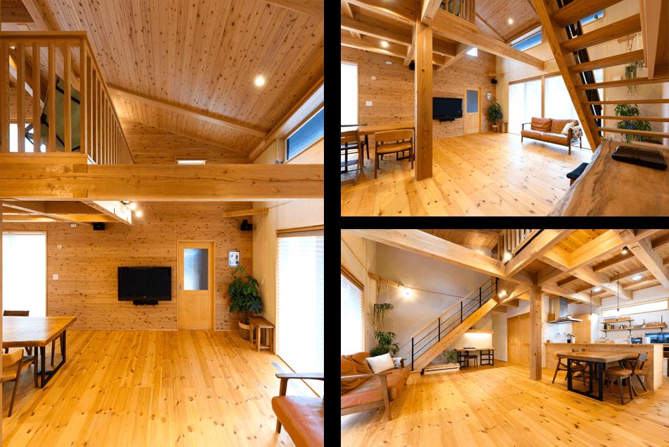 建築実例木の風合いを活かした自然味あふれる家