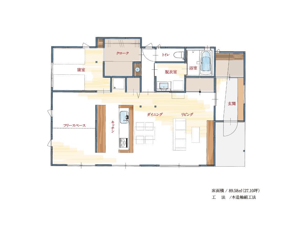 出水モデルハウス -見取り図