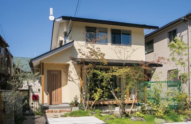 木の家|福岡の新築建築事例|2階建|4LDK|外観|エコワークス|CASE-01|外観01