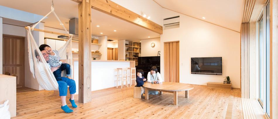 木の家|福岡の新築建築事例|平屋|3LDK|リビング|エコワークス|CASE-02|内観04