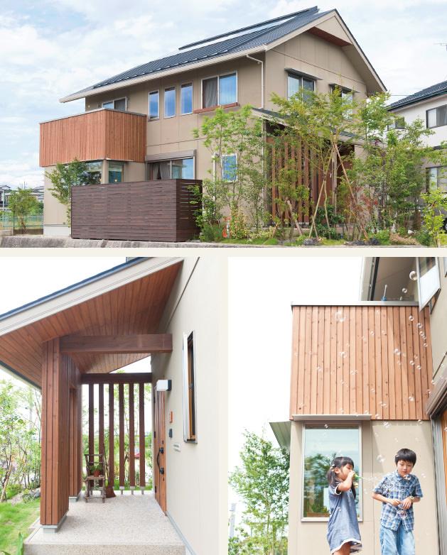 木の家|福岡の新築建築事例|2階建|4LDK|外観|エコワークス|CASE-05|外観01