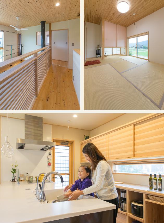 木の家|福岡の新築建築事例|2階建|5LDK|吹抜け|和室|キッチン|エコワークス|CASE-07|内観03