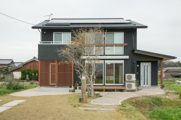 木の家|福岡の新築建築事例|2階建|5LDK|外観|エコワークス|CASE-07|外観01