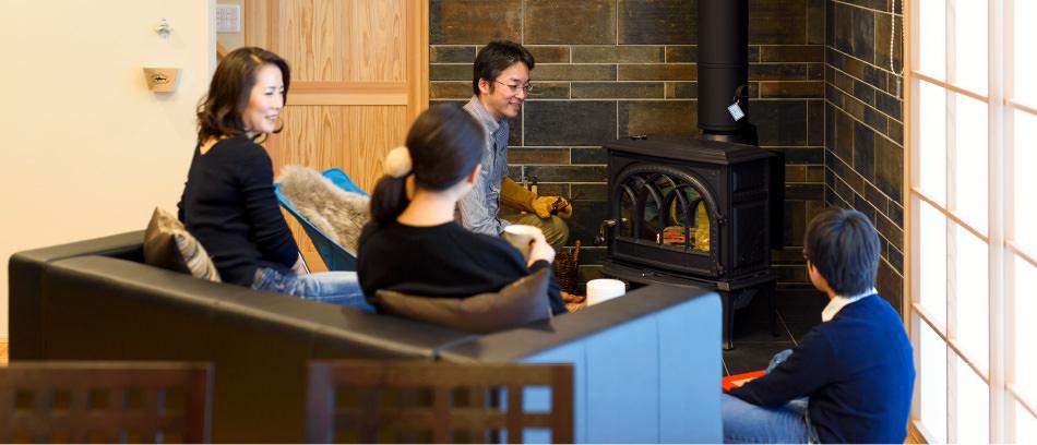 木の家 福岡の新築建築事例 2階建 3LDK リビング エコワークス CASE-12 内観03