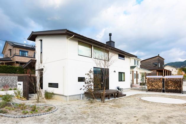 木の家 福岡の新築建築事例 2階建 3LDK 外観 エコワークス CASE-12 外観01