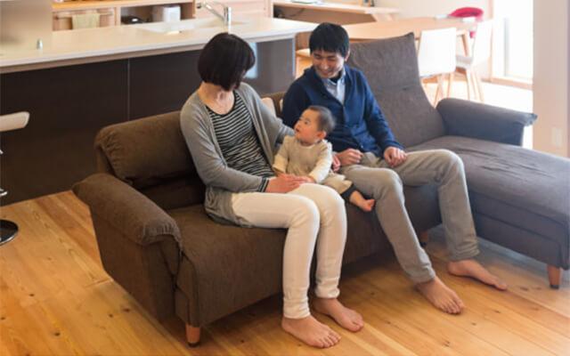 木の家|福岡の新築建築事例|平屋|4LDK|キッチンを中心に笑顔が集まる暮らしやすさを追求した平屋|エコワークス|CASE-06