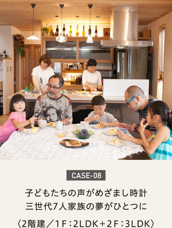 case08-子どもたちの声がめざまし時計三世代7人家族の夢がひとつに