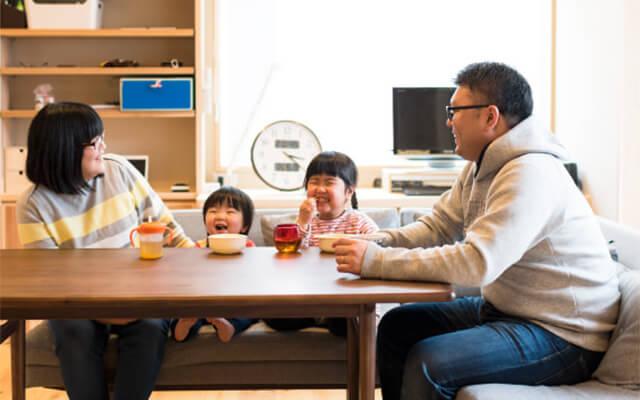 木の家|福岡の新築建築事例|平屋|2LDK|子どものすこやかな成長願う、はだしが気持ちいい木の家|エコワークス|CASE-10