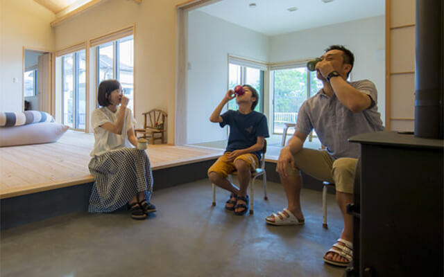 木の家|熊本の新築建築事例|平屋|3LDK|祖母の家の暖かな記憶を原風景に大切にしたい時間を紡ぐ家|エコワークス|CASE-14