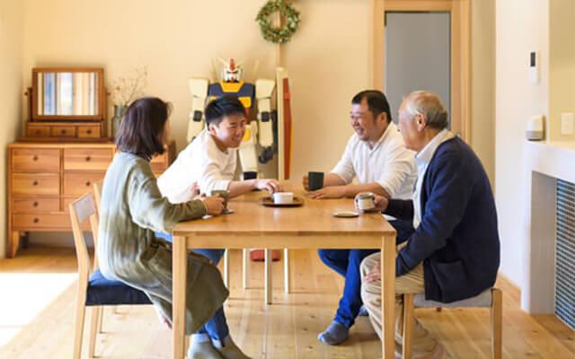 木の家|熊本の新築建築事例|平屋|7LDK|4世代8人の想いを尊重一人ひとりの心が喜ぶ空間を|エコワークス|CASE-17