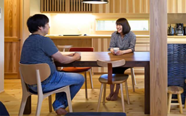 木の家|熊本の新築建築事例|2階建|4LDK|価値観を一変させた家と日常に潜む豊かさを育んで|エコワークス|CASE-19
