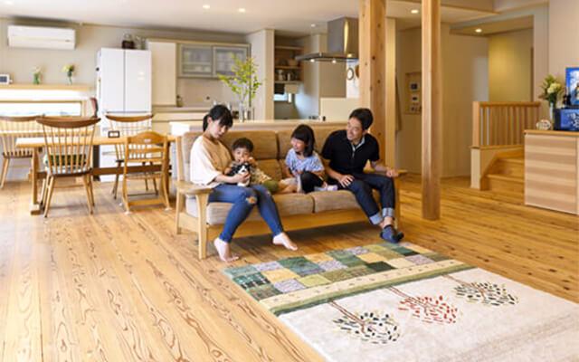 木の家|福岡の新築建築事例|平屋|3LDK+ロフト|環境にも人にも優しい自然素材の家|エコワークス|CASE-20