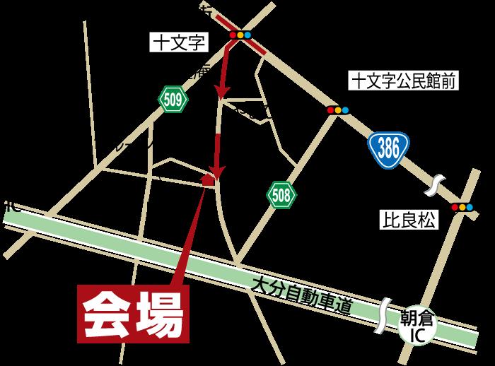 完成見学会-福岡県朝倉市石成-地図