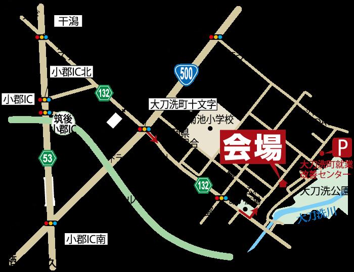 完成見学会-4/25.26-三井郡大刀洗町-地図