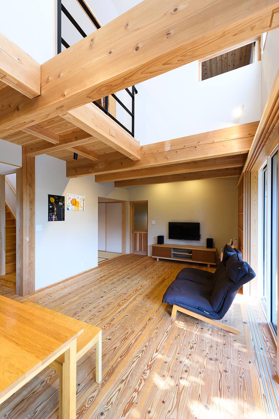 木の家|福岡の新築建築事例|2階建|4LDK|リビング|エコワークス|CASE-22|内観08
