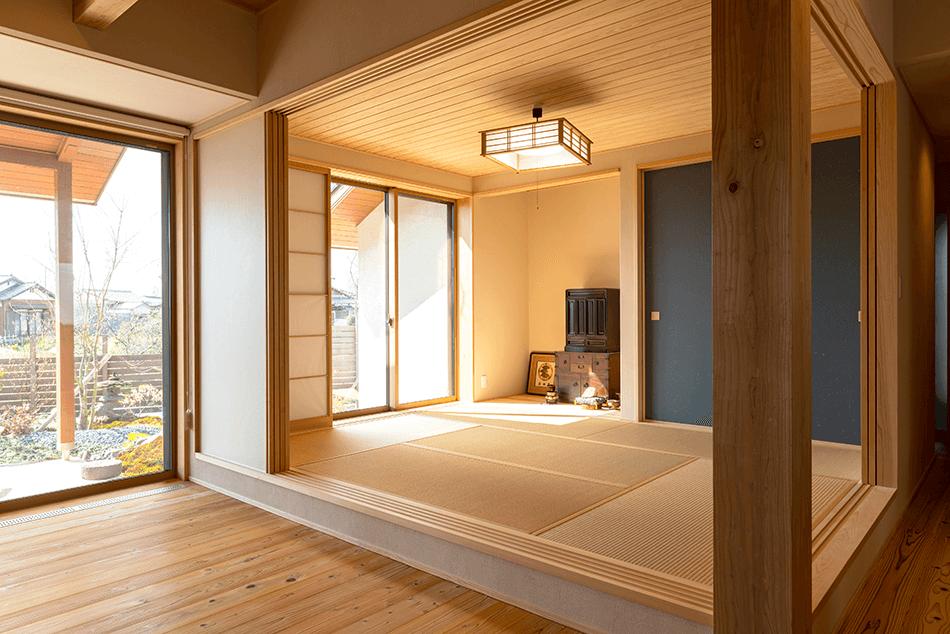 木の家|福岡の新築建築事例|平屋|3LDK|和室|エコワークス|CASE-23|内観03