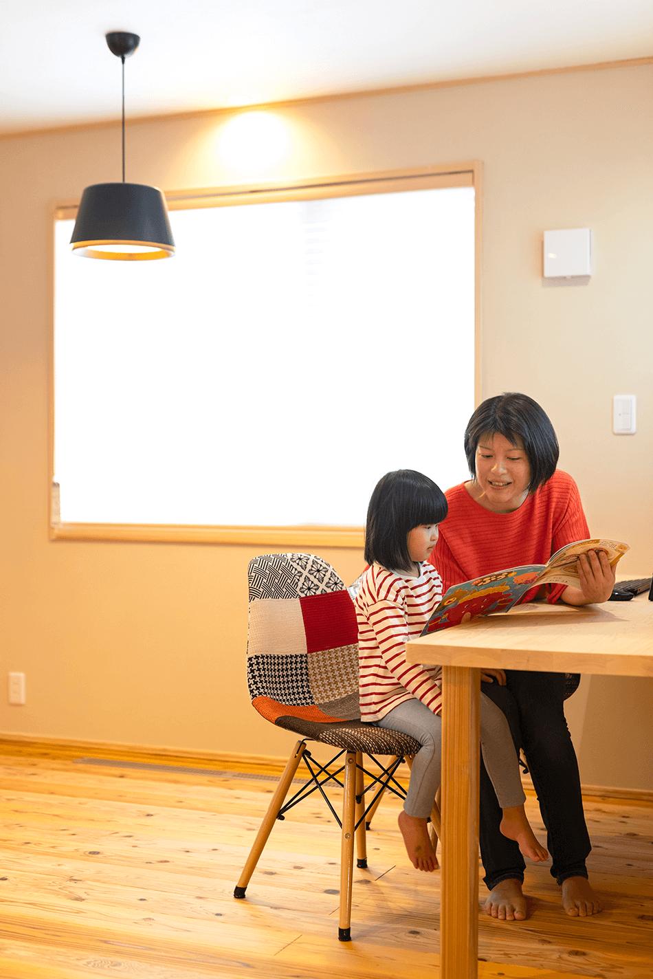 木の家|福岡の新築建築事例|平屋|3LDK|スタディスペース|エコワークス|CASE-23|内観04