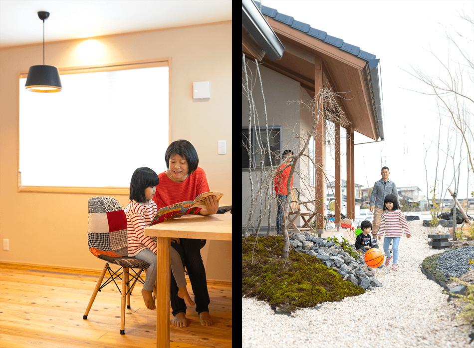 木の家|福岡の新築建築事例|平屋|3LDK|庭|スタディスペース|エコワークス|CASE-23|内観06