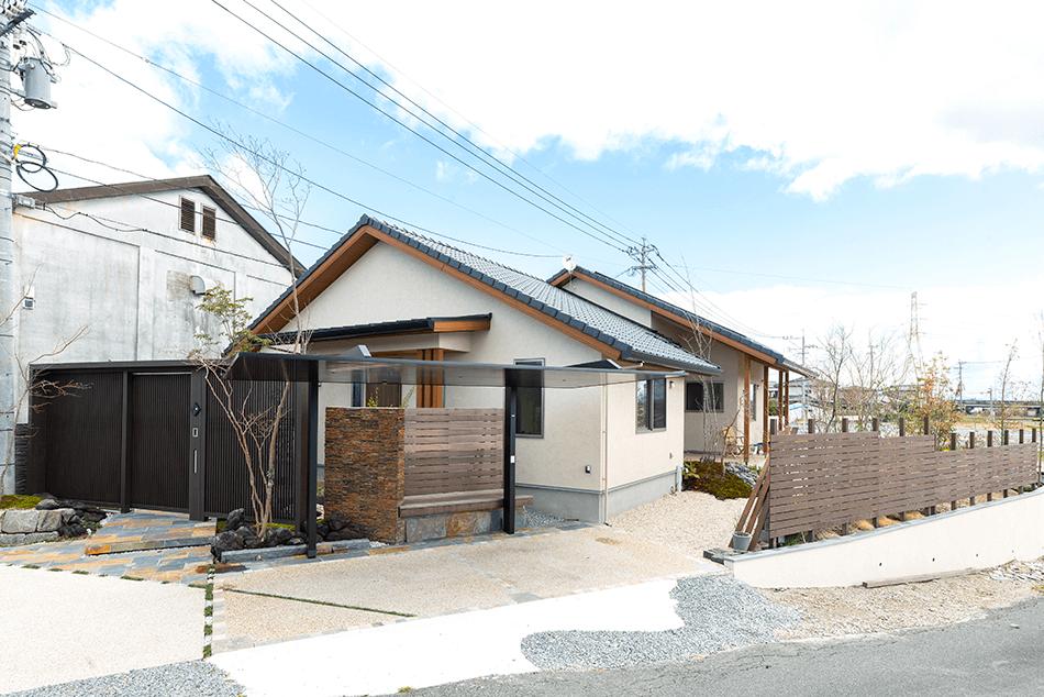 木の家|福岡の新築建築事例|平屋|3LDK|外観|エコワークス|CASE-23|外観