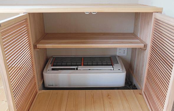 床下に設置したエアコン