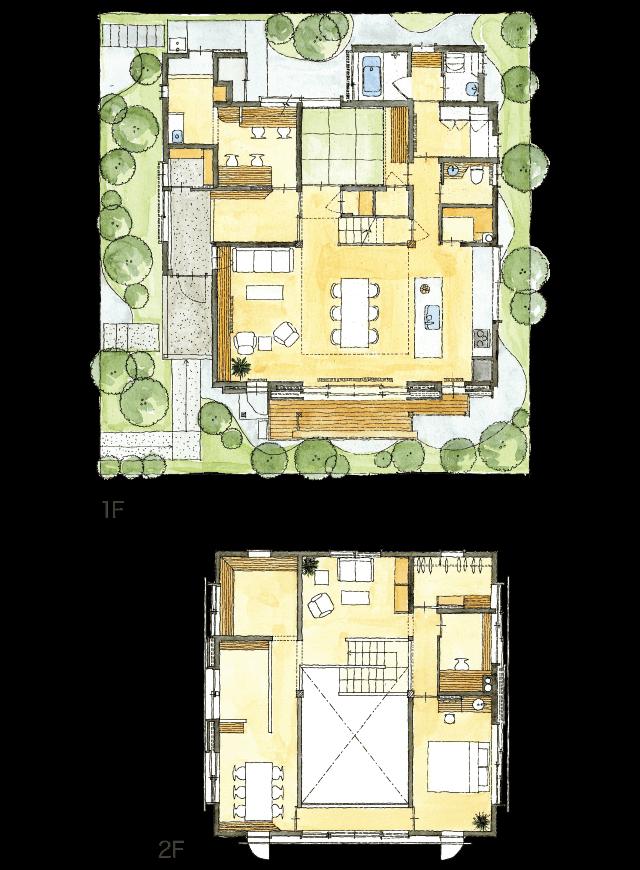熊本モデルハウス -見取り図