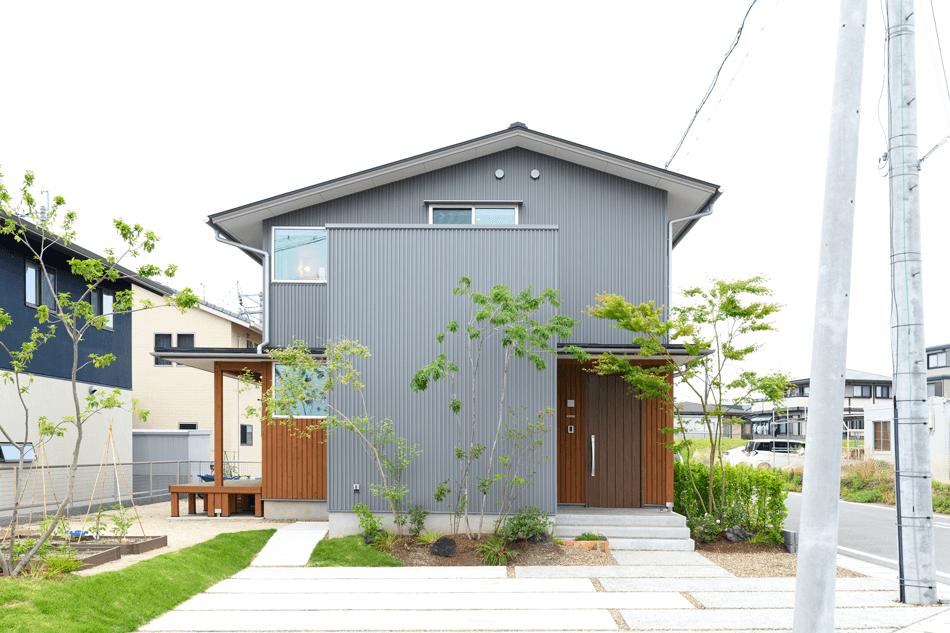 木の家|福岡の新築建築事例|2階建|3LDK|外観|エコワークス|CASE-24|外観01